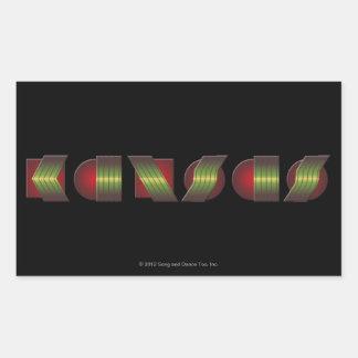 KANSAS (el punto de sabe los colores de vuelta) Pegatina Rectangular