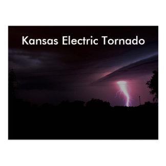 Kansas Electrical Tornado POST CARD!! Postcard