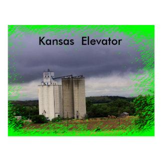 Kansas Elevator Black Wolf POST CARD