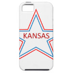 Kansas en una estrella iPhone 5 Case-Mate cárcasa