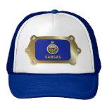 Kansas enmarcó el gorra de la bandera