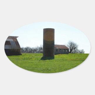 Kansas Farm Land Oval Stickers