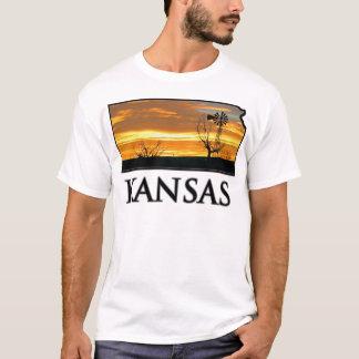 Kansas Farm Windmill T-Shirt