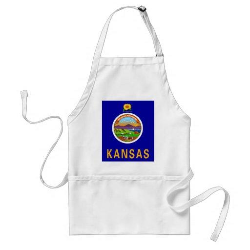 Kansas Flag Adult Apron