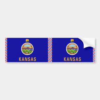 Kansas Flag Bumper Sticker
