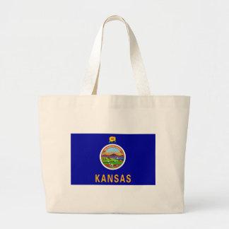 Kansas Flag Canvas Bag