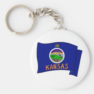 Kansas Flag Key Chains