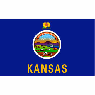 Kansas Flag Keychain Cut Out