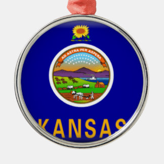 Kansas Flag Metal Ornament