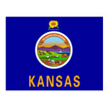 Kansas Flag Postcard