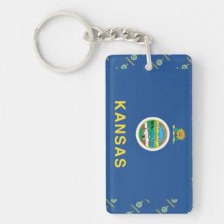 KANSAS Flag Single-Sided Rectangular Acrylic Keychain