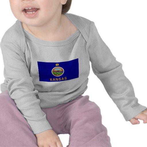 Kansas Flag Tee Shirts