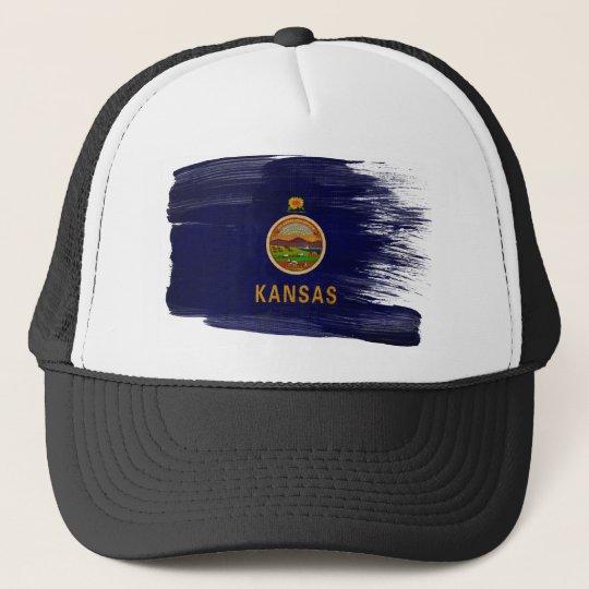 Kansas Flag Trucker Hat