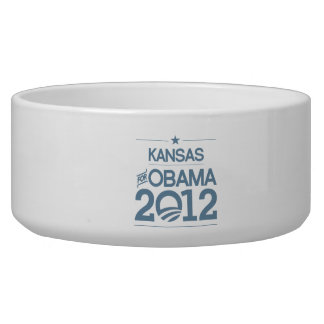 KANSAS FOR OBAMA 2012.png Dog Water Bowl