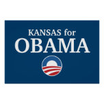 KANSAS for Obama custom your city personalized Poster