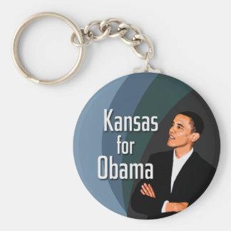 Kansas for Obama keychain