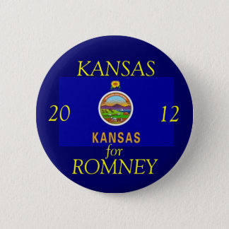 Kansas for Romney 2012 Button