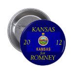 Kansas for Romney 2012 Pin