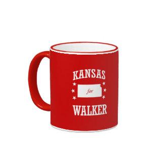 KANSAS FOR WALKER RINGER COFFEE MUG