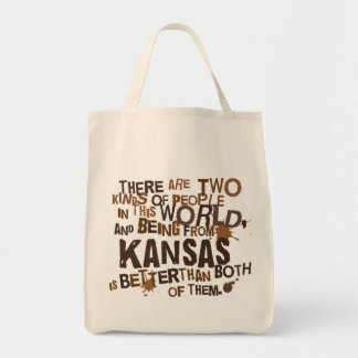 Kansas (Funny) Gift Canvas Bags