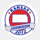 Kansas Gary Johnson Pegatinas Redondas