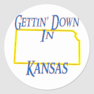Kansas - Getting abajo Etiquetas Redondas