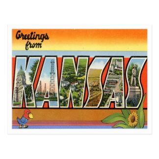 Kansas Greetings From US States Postcard