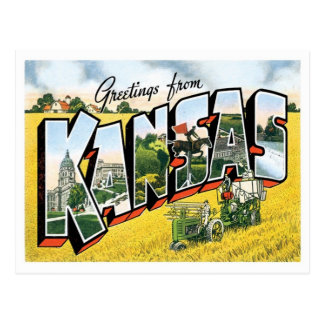 Kansas Greetings From US States Postcard
