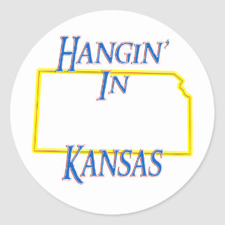 Kansas - Hangin' Classic Round Sticker