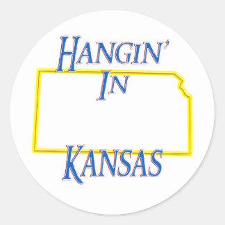 Kansas - Hangin Etiqueta Redonda