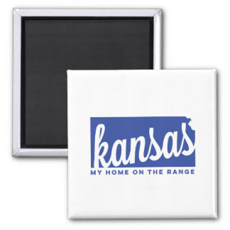 kansas | home on the range | blue magnet
