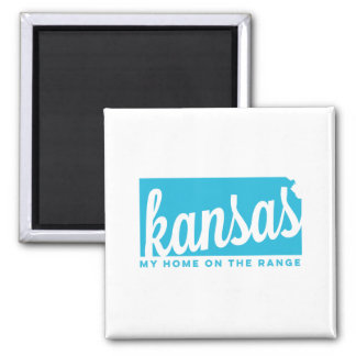 kansas | home on the range | sky blue magnet