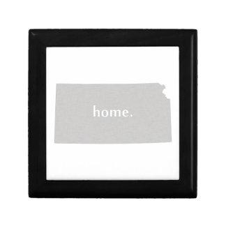 Kansas home silhouette state map trinket boxes