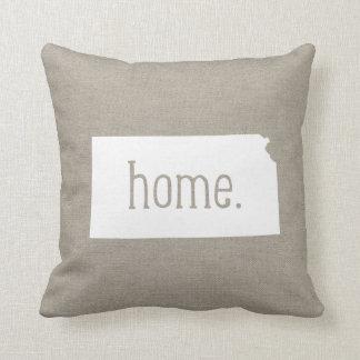 Kansas Home State Throw Pillow
