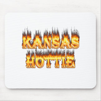 Kansas Hottie fire and flames Mouse Pad