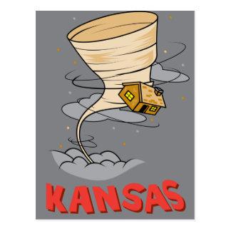 Kansas Hurricane Postcard