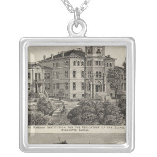 Kansas Institute for Education of the Blind Square Pendant Necklace