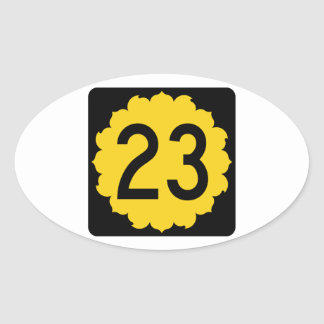 Kansas K-23 Pegatina Ovalada
