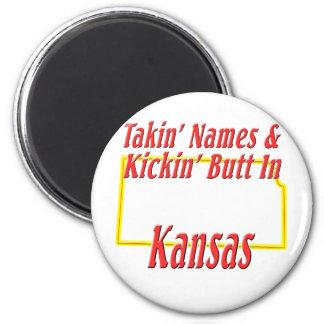 Kansas - Kickin' Butt Fridge Magnet