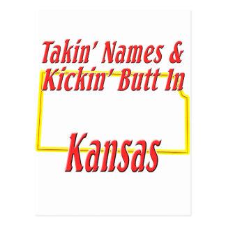 Kansas - Kickin' Butt Postcard