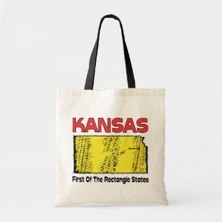 Kansas KS Motto ~ First OF The Rectangle States Tote Bag