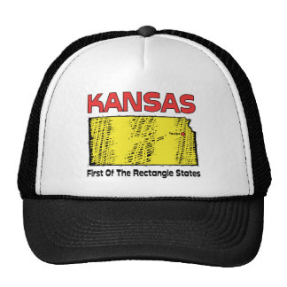 Kansas KS Motto First OF The Rectangle States Trucker Hats