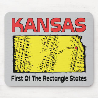 Kansas KS Motto ~ First OF The Rectangle States Mouse Pad