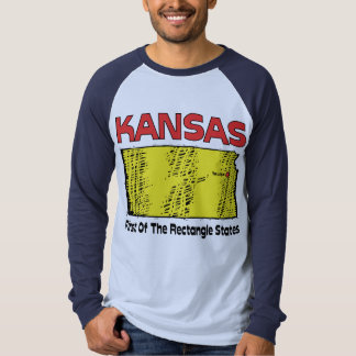 Kansas KS Motto ~ First OF The Rectangle States T Shirts