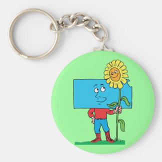 Kansas KS Sunflower Vintage Travel Souvenir Keychain