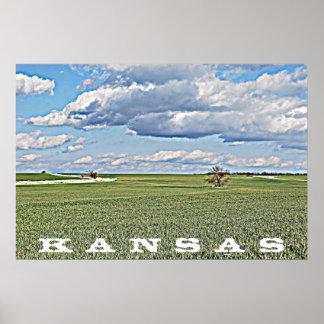 Kansas Landscape Canvas Poster