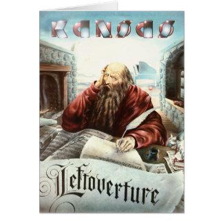KANSAS - Leftoverture (1976) Tarjeta De Felicitación