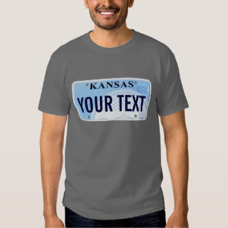 Kansas license plate t shirt