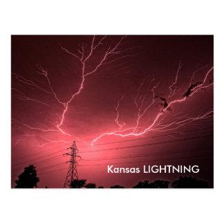 Kansas Lightning across the sky POST CARD