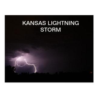 KANSAS LIGHTNING STORM POSTCARD